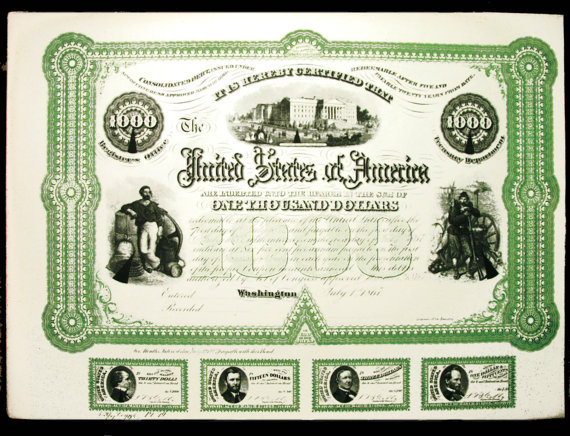USA Civil War Bond